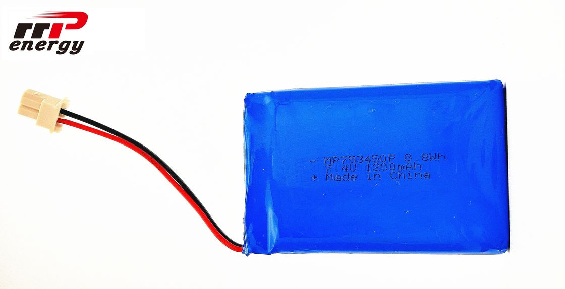 753450P 8.8W 7.4V 1200mAh High Power Lipo Battery For Electric Breast Pump