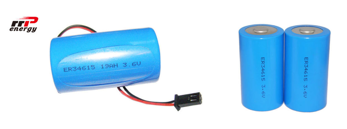 ER34615 3.6V 19Ah Lisocl2 Primary Lithium Ion Battery D Size 10 Years Shelf Life