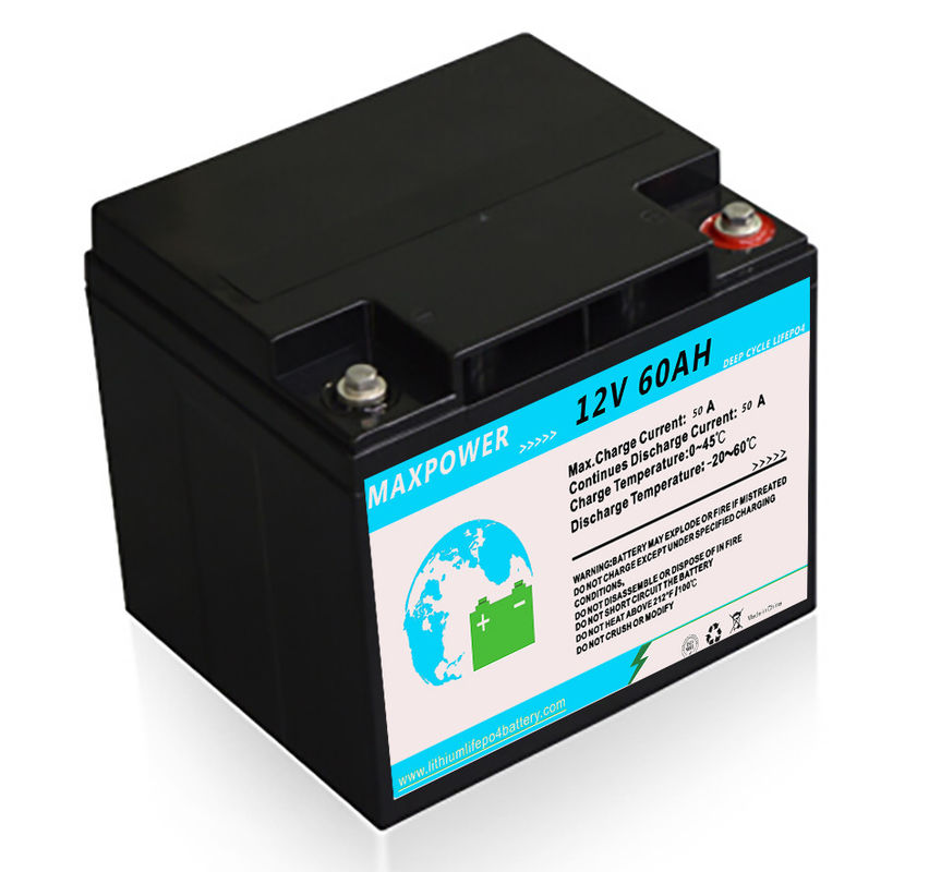 2000 Cycles 768wh ESS 12V 60Ah Lithium LiFePo4 Battery