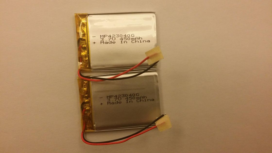 High Temp Lithium Polymer Battery MP423040 450mAh 3.7Volt IEC62133
